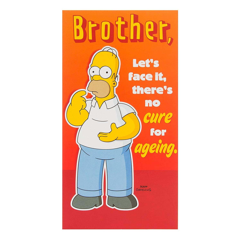 Carte Simpsons Carte D Anniversaire Pour Frere Solution Temporaire
