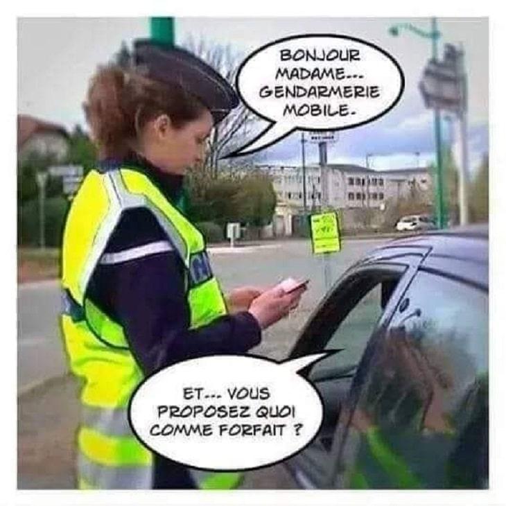 Bonjour madame... Gendarmerie mobile
