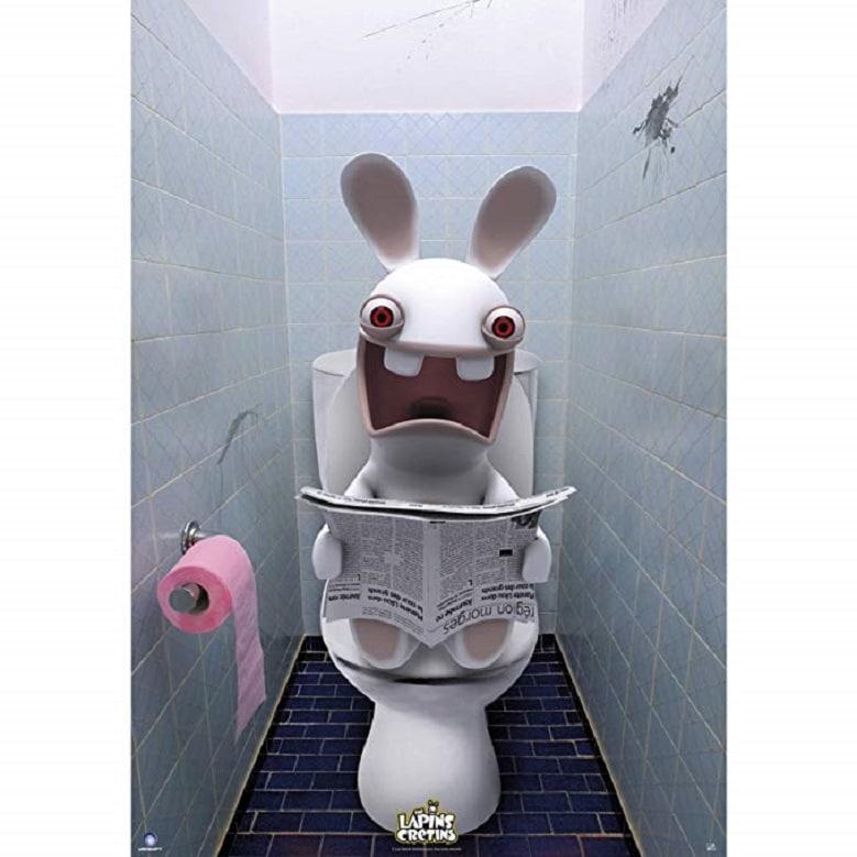 Affiche - Lapins Crétins WC