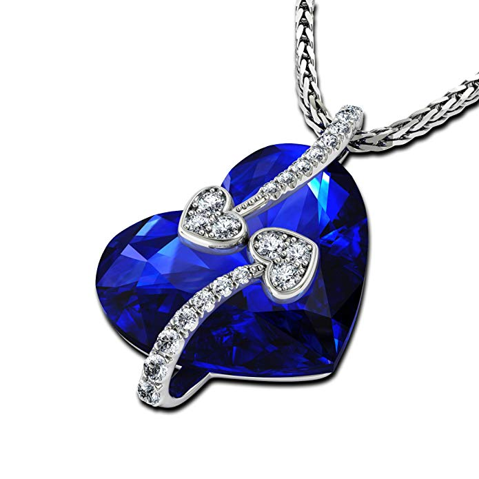 Superbe Cœur Pendentif Collier pour femme