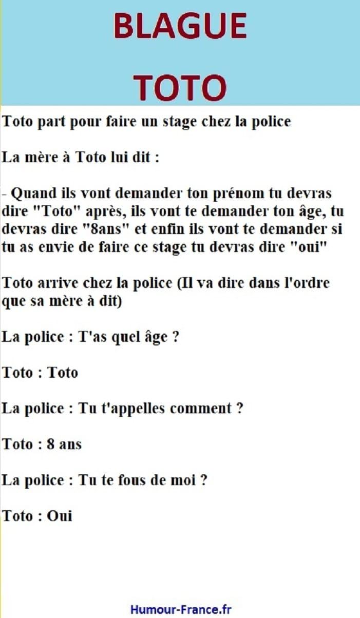 Toto part pour faire un stage chez la police