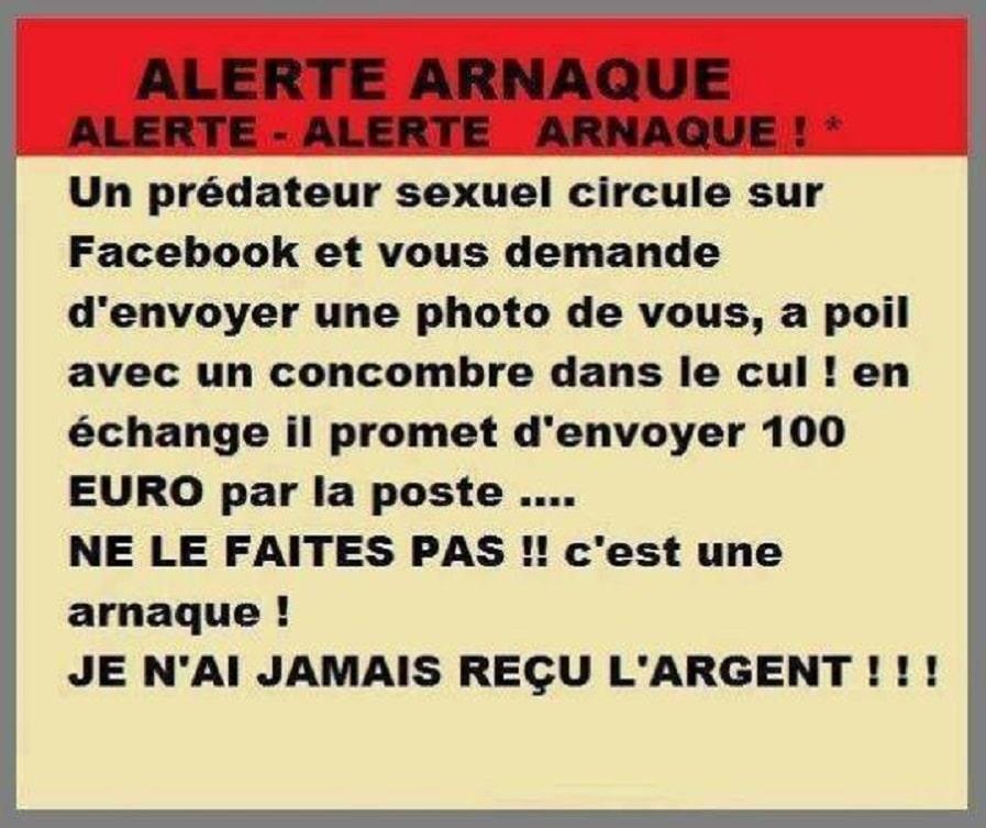 Alerte arnaque ! Un prédateur sexuel circule sur facebook