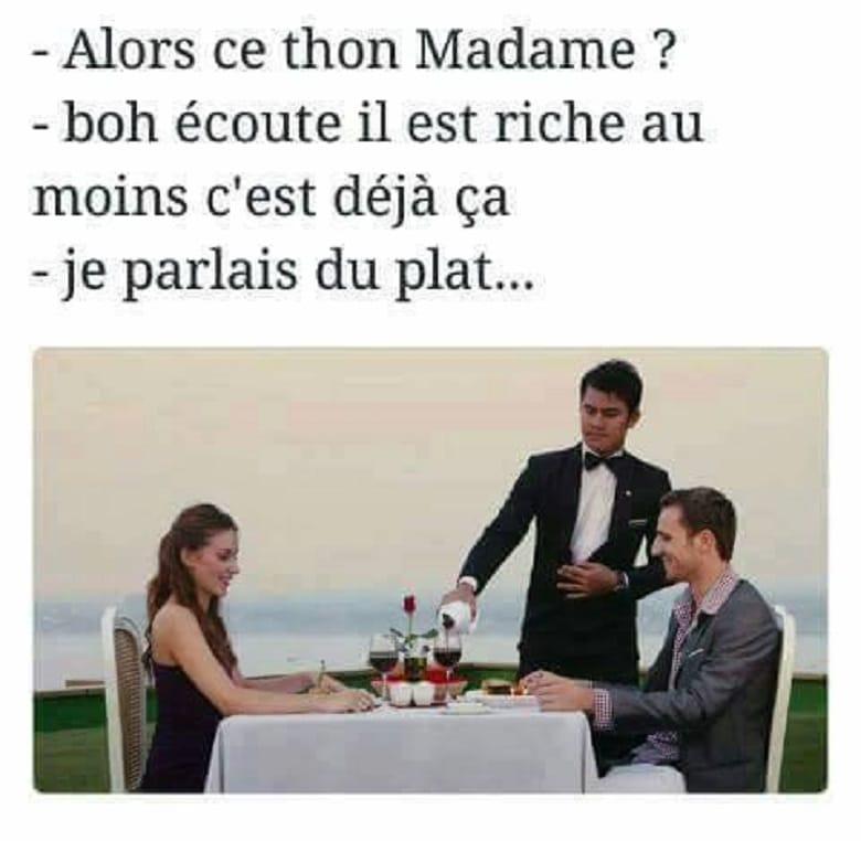 Alors ce thon Madame