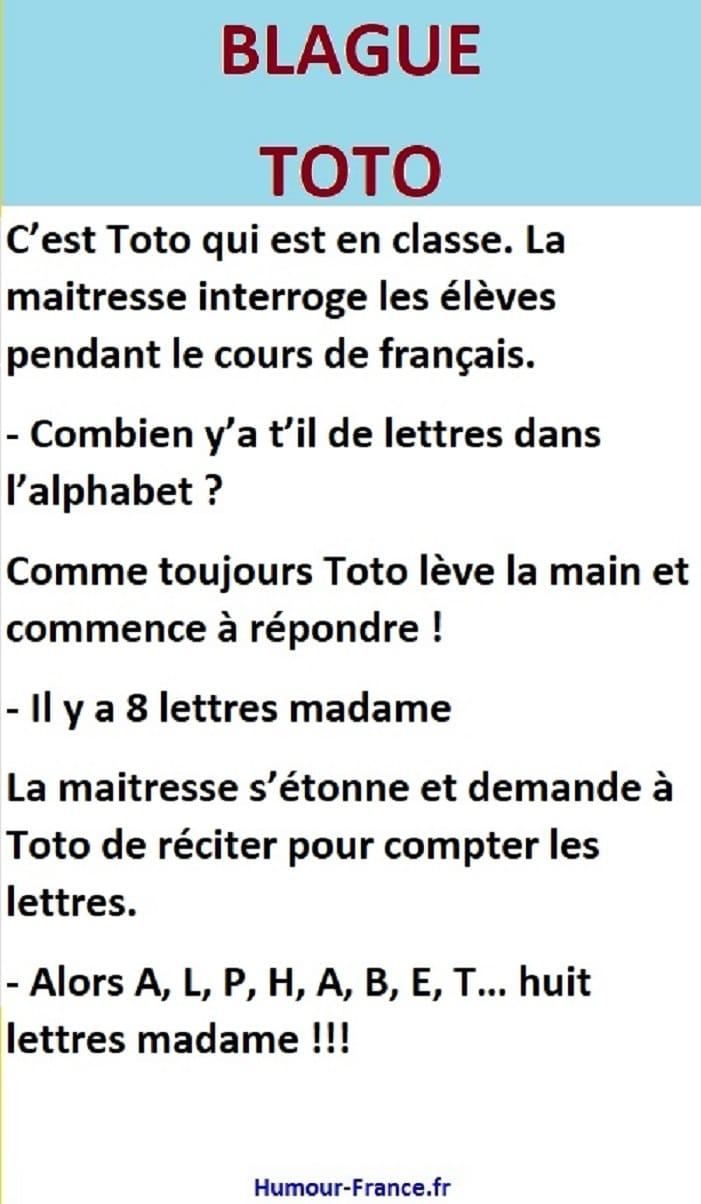 C'est Toto qui est en classe. La maîtresse interroge les élèves pendant le cours de français.