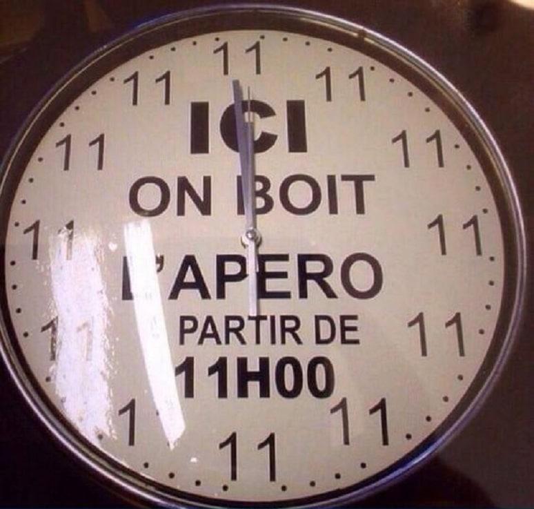 ICI on boit l'apéro à partir de 11h00