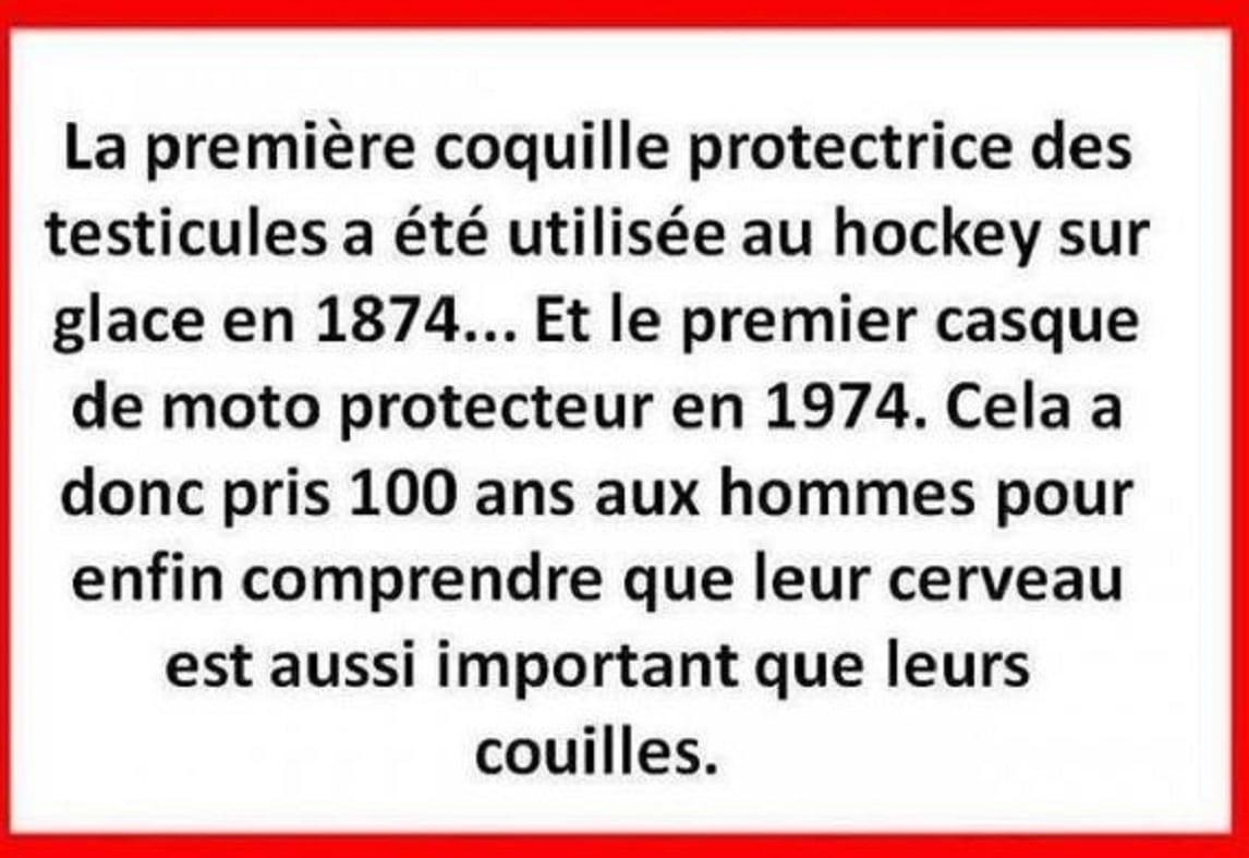 La première coquille protectrice des testicules a été utilisée au hockey sur en 1874...