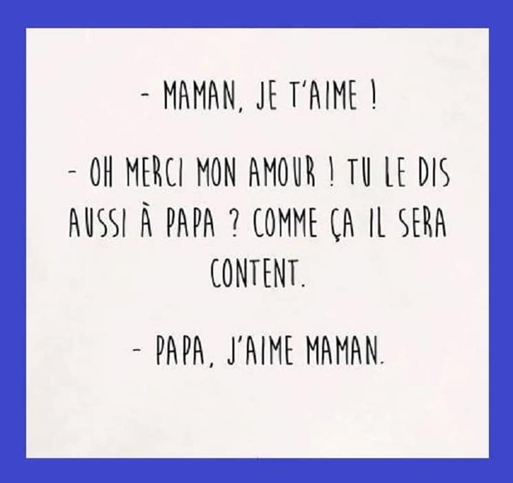 Maman je t'aime ! Oh merci mon amour !
