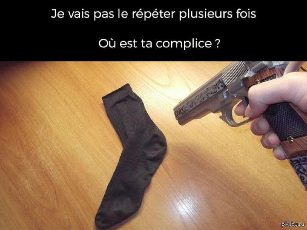Quand tu perds une chaussette