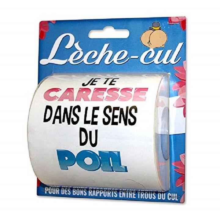 Cadeau humour: Papier toilette lèche cul