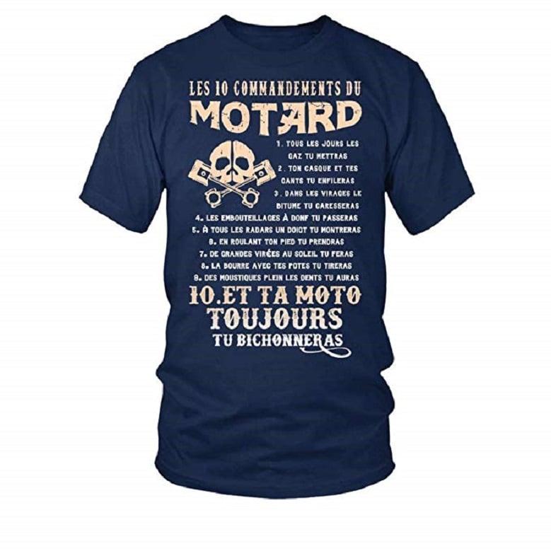 T-Shirt Les 10 Commandements du Motard Homme