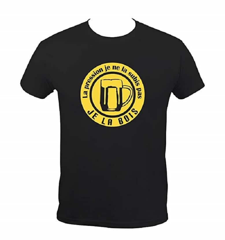T-Shirt Humoristique La Pression Je La Bois