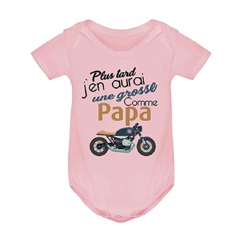 Body Coton bébé - sous vêtement Enfant - Grosse Moto