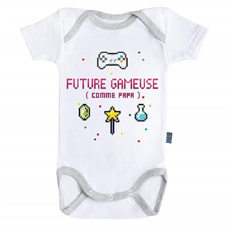 Future gameuse comme papa - Body Bébé manches courtes