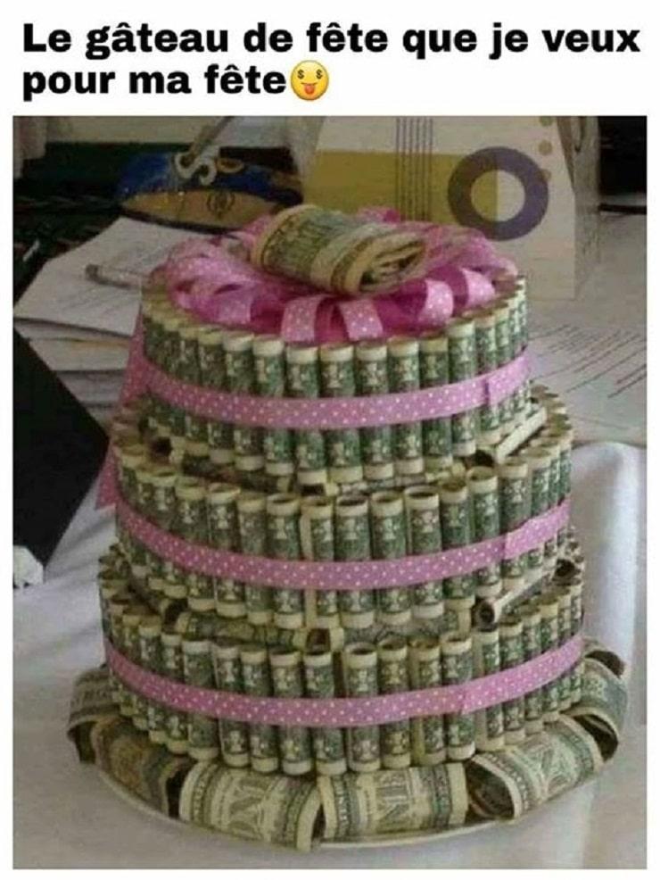Le gâteau de fête que je veux pour ma fête