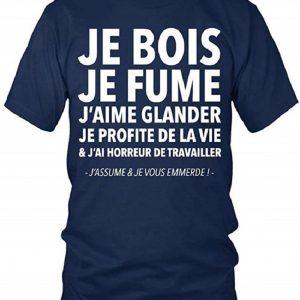 T-Shirt Je Bois Je Fume Homme