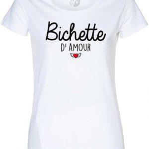 Top T-Shirt Message Humour Bichette