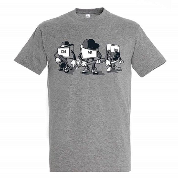 T-Shirt Computer Mafia - Humour