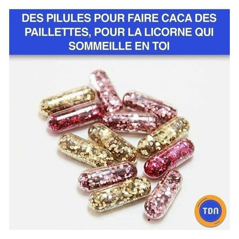 Des pilules pour faire caca