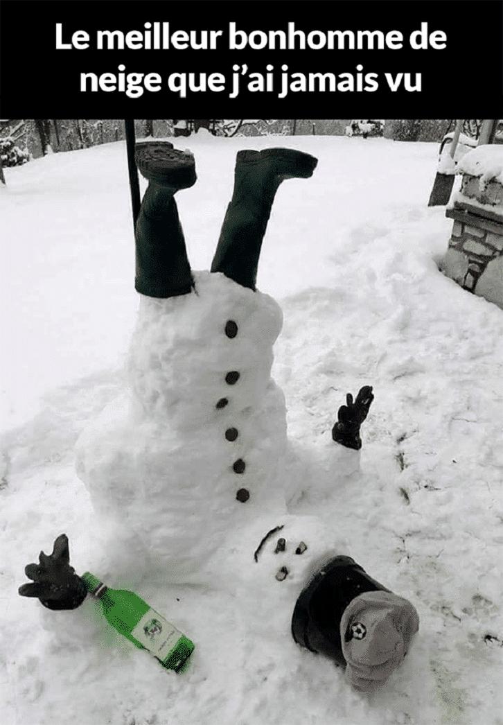 Le meilleur bonhomme de neige que j'ai jamais vu