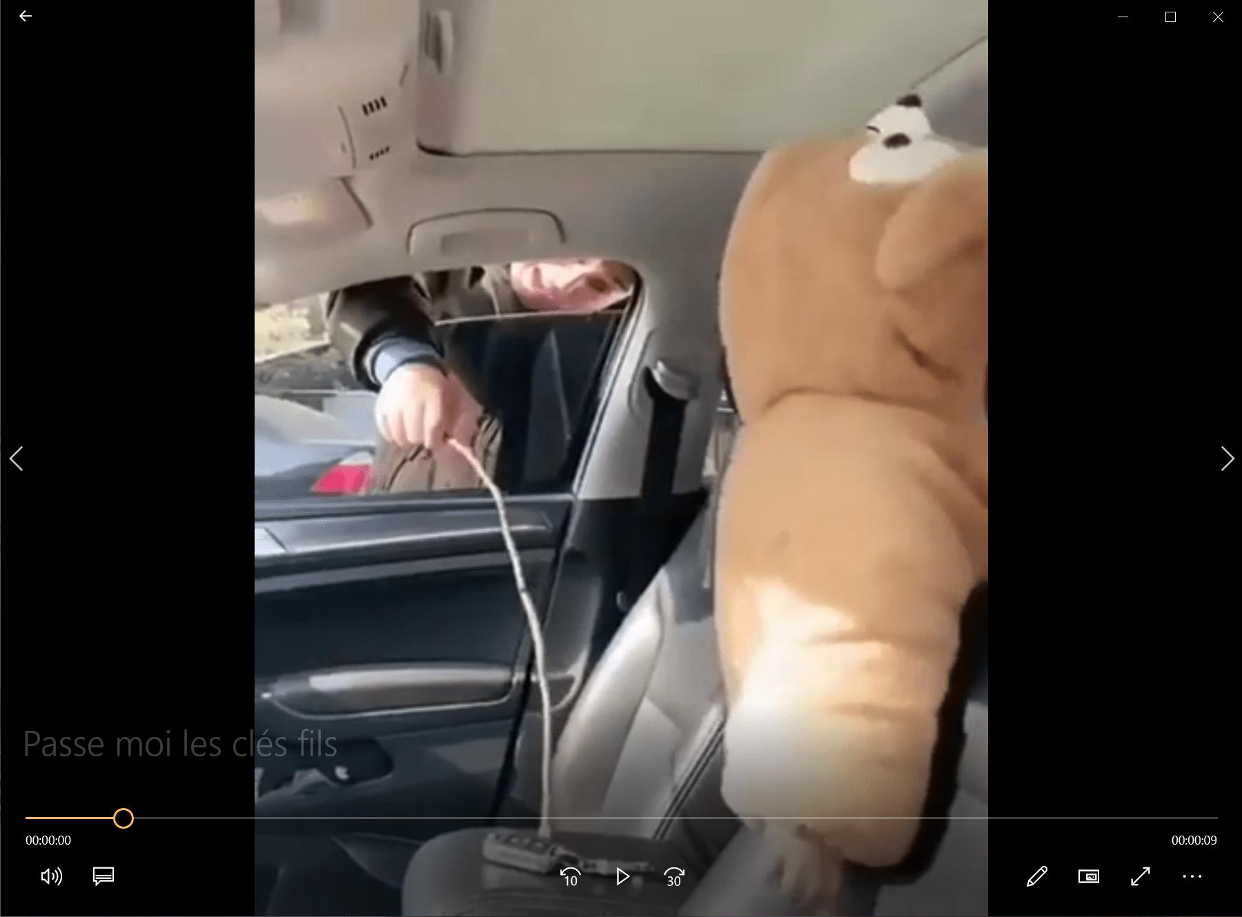 Passe moi les clés fils