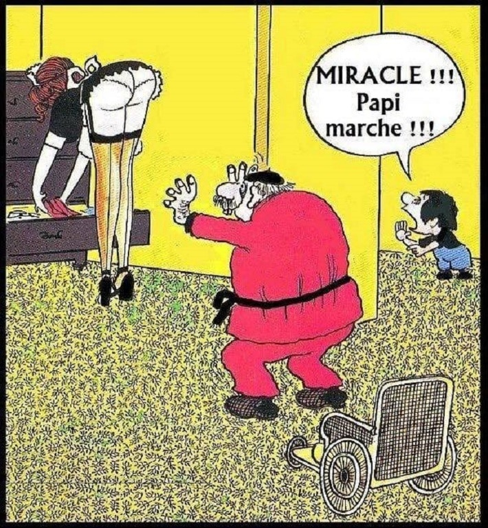 Miracle !!! Papy marche !!!