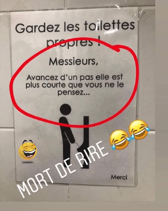 Gardez les toilettes propres !