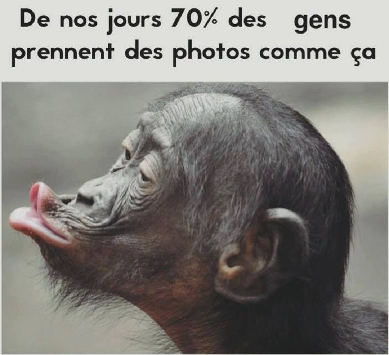 De nos jours 70% des gens prennent des photos