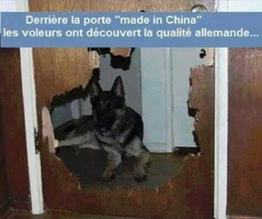Derrière la porte made in china