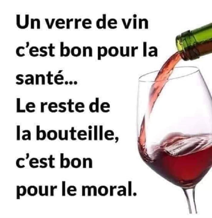 Un verre de vin c'est bon pour la santé