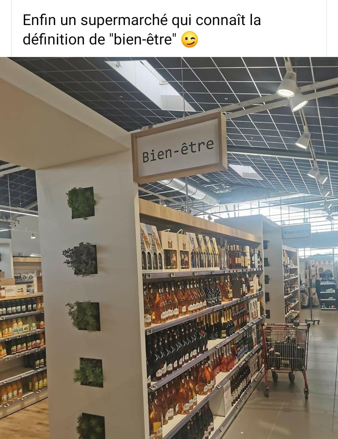 Enfin un supermarché qui connaît la définition de bien-être