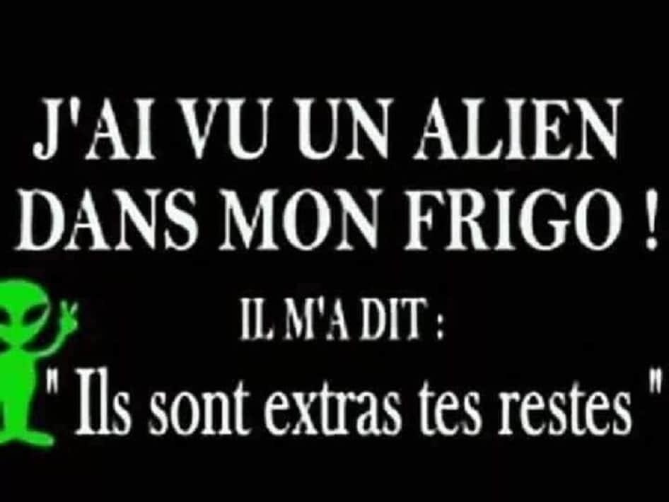 J'ai vu un alien dans mon frigo !
