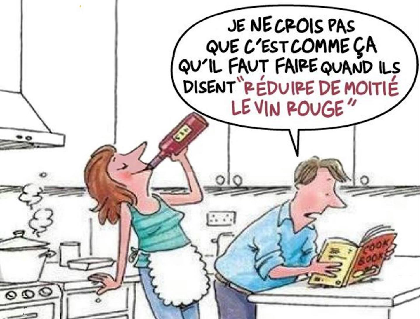 Réduire de moitié le vin rouge