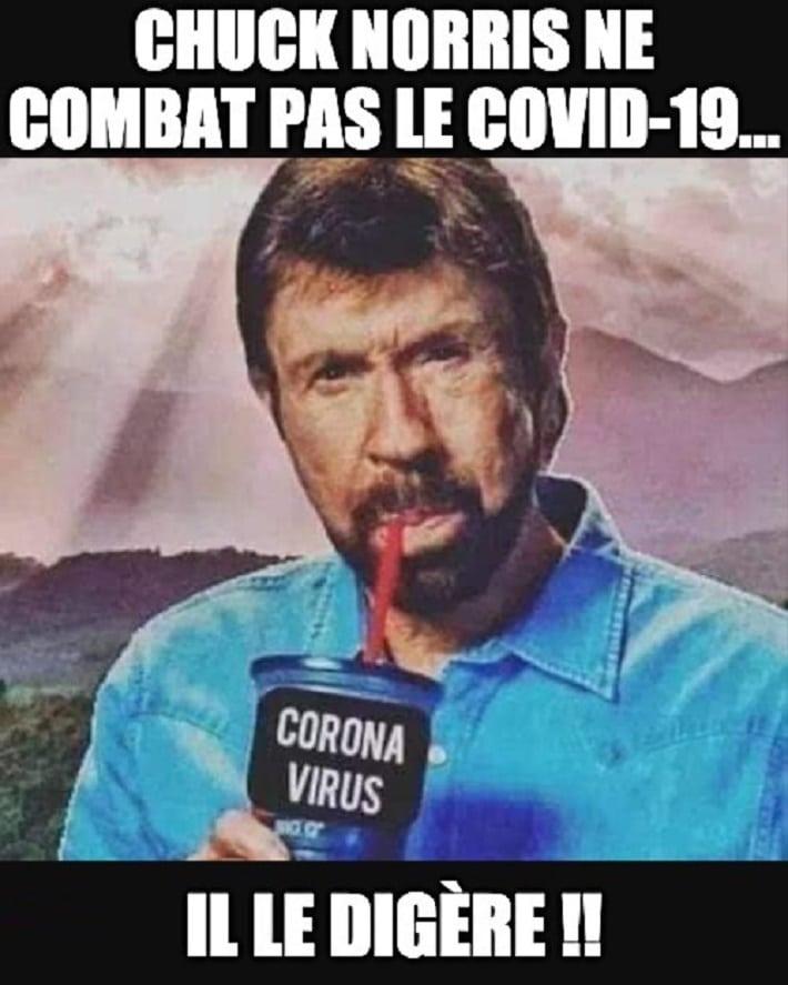 Chuck Norris ne combat pas le Covid-19