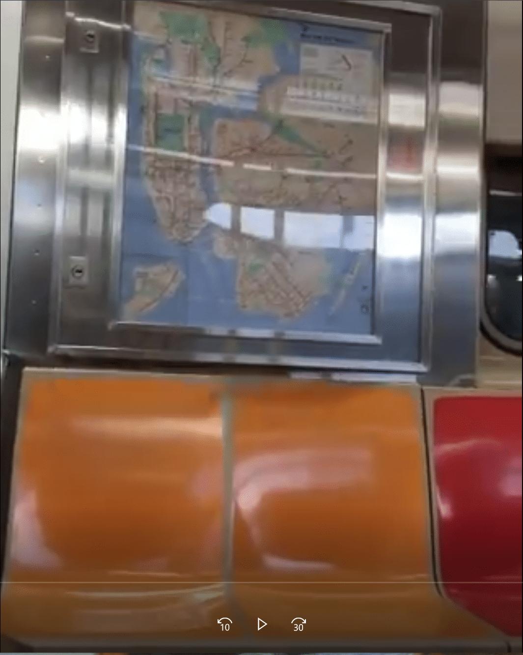 Mauvaise place dans le métro