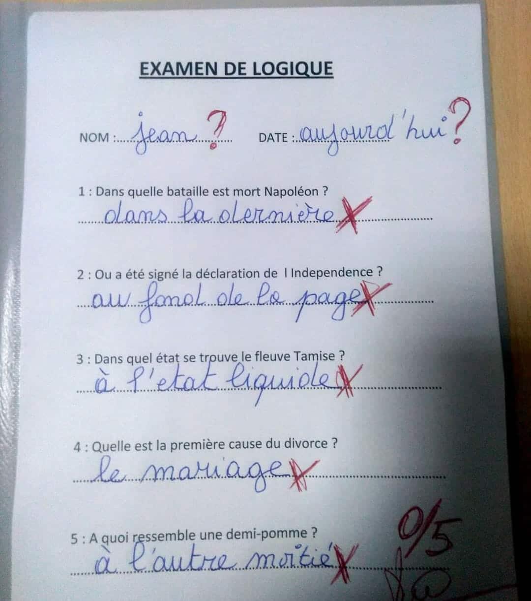 Examen de logique
