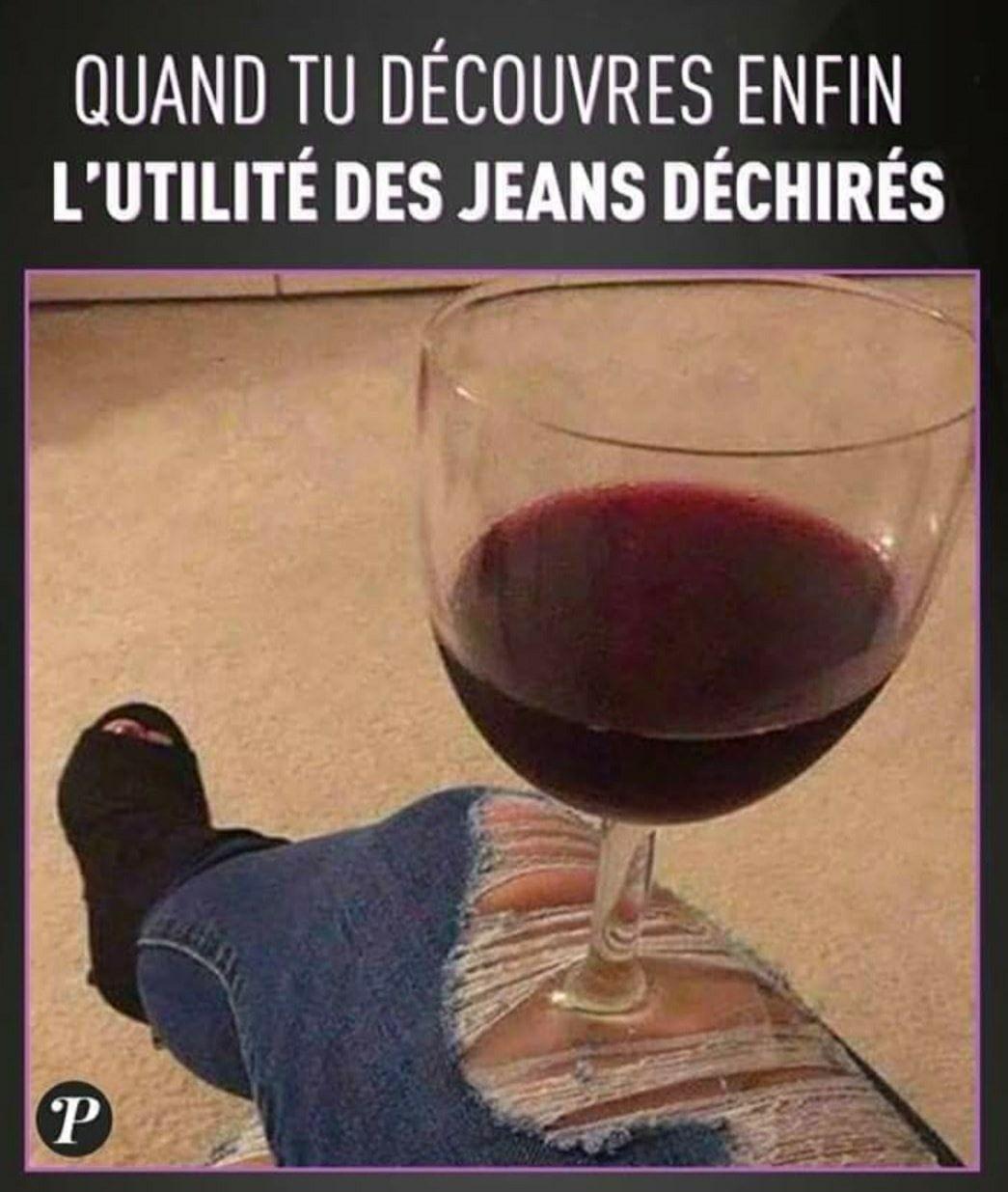 Quand tu découvres enfin l'utilité des jeans déchirés