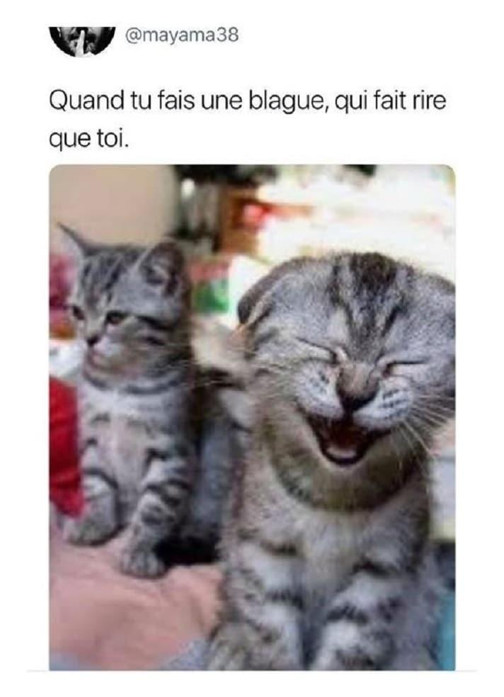 Quand tu fait une blague, qui fait rire que toi
