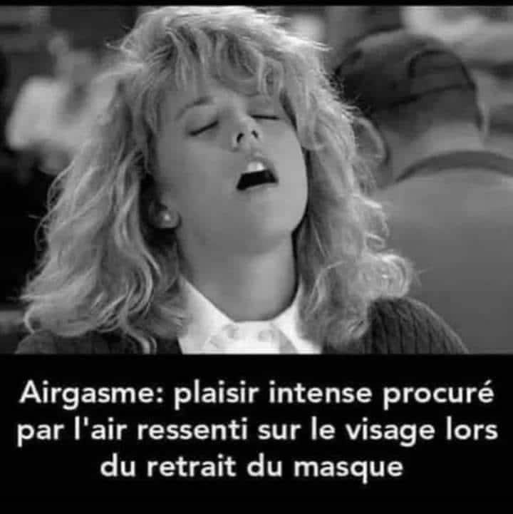 Airgasme : plaisir intense procuré par l'air ressenti sur le visage