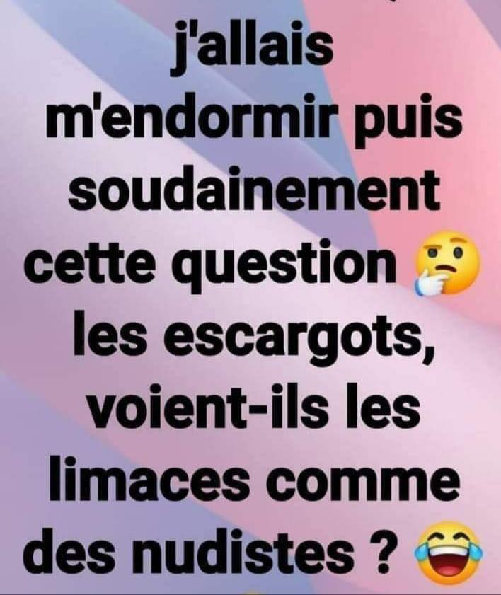 J'allais m'endormir puis soudainement cette question