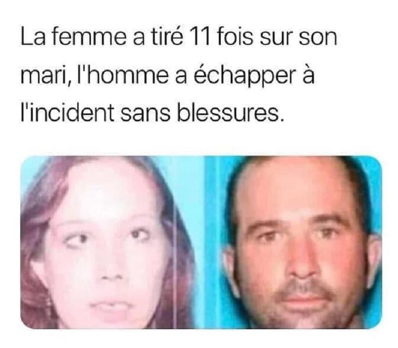 La femme a tiré 11 fois sur son mari