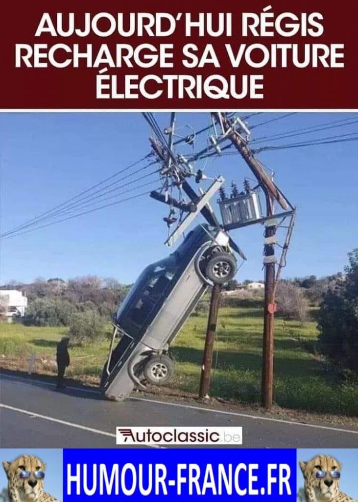 Aujourd'hui Régis recharge sa voiture électrique