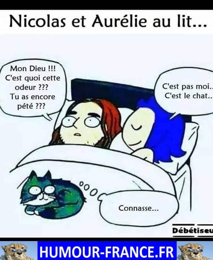 Nicolas et Aurélie au lit ...