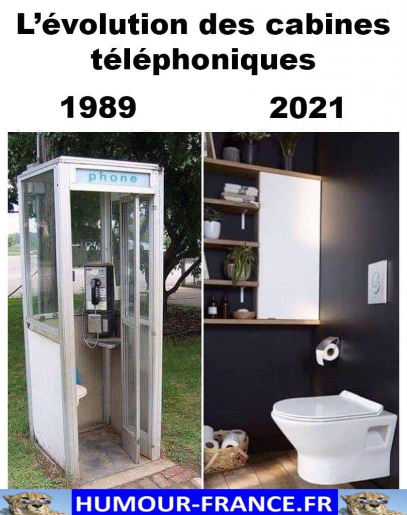 L'évolution des cabines téléphoniques