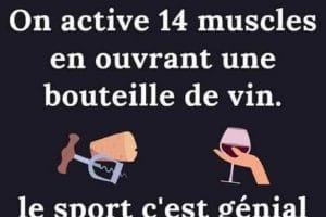 On active 14 muscle en ouvrant une bouteille de vin