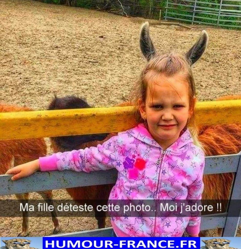 Ma fille déteste cette photo.